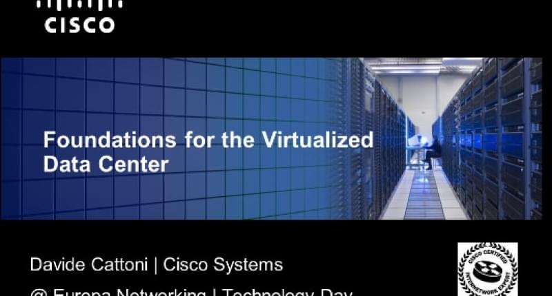 Data Center Virtualization | Technology Day